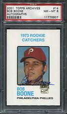2001 Topps Archives Autographs #14 Bob Boone PSA 8