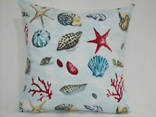 "16"" Nautical Cushion cover's X 2,""Seashell"" 100%cotton,bedroom,conservatory,"