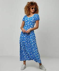 Joe Browns WE408 Retro Maxi Dress Blue