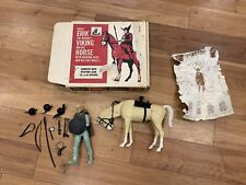 Vintage Brave ERIK THE VIKING and Horse Figure with Accessories Original Box1970