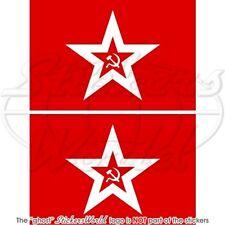 SOWJETUNION Sowjet Marinejack Flagge Fahne RUSSLAND 100mm Aufkleber x2 Stickers