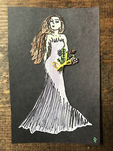 Sketch-Mixed Media-Watercolor Painting-RBF Woman-Beauty Pageant-Fashion Model