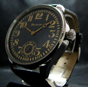 Helvetia Antique WWII Era Steel Wristwatch Hi-Grade Chronometer