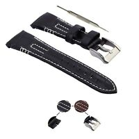 26mm Genuine Leather Watch Strap Band Fits For Seiko Velatura W/ Tool