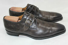 Mens Magnanni Marco Monk Strap Loafer Shoe Buckle 11M Catalux Grey Leather (N16)