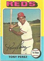 1975 Topps Baseball Set Break Tony Perez Cincinnati Reds Card #560