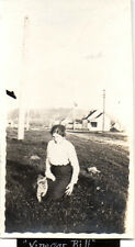 "Vancouver WA Woman with Cat Named ""Vinegar Bill"" Photo @1915"