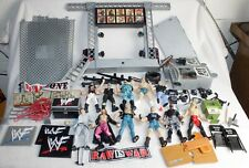 Wwe Wwf Titan Tron Live Entrance Stage w/ Accessories & 11 Figures Jakks