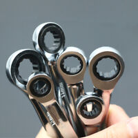6pcs 8-13mm Fixed Head Metric Spanner Ratchet Wrench Polished Hand Tools Set Kit