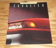 Original 1988 Chevrolet Cavalier Deluxe Sales Brochure 88 Chevy