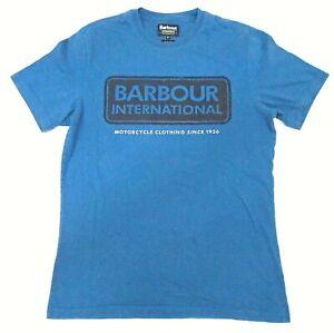 Barbour Motorcycle Mens T Shirt Blue Uk Size M