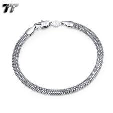 TT 6mm 18K White Gold Filled Chain Bracelet (CBF174S) NEW