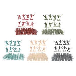 100pcs Plastic 4.5cm Mini Soldier Action Figures Accessories Kits Play Set