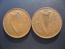Ireland Pennies 1928 & 1937.