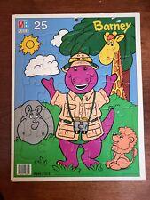 Barney and Friends Safari 25 Piece Cardboard Puzzle Milton Bradley