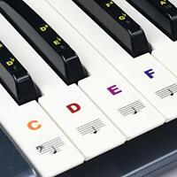 Piano Stickers for Keys, Removable Piano Keyboard Stickers for 88/61/54/49/37 Ke