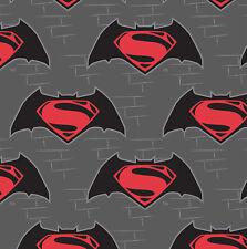 SUPERMAN LOGO  LICENSED   Cotton  Patchwork  Fabric FAT QUARTER CAMELOT