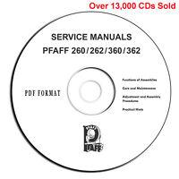 PFAFF 260 360 262 362 Automatic Instructions-Service Parts Manuals-PDF eBook CD*