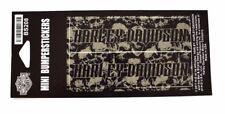 Patrón de cráneo genuina Harley Davidson Gris Mini Parachoques Pegatinas BS208
