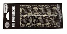Genuine Harley Davidson Grey Skull Pattern Mini Bumper Stickers BS208