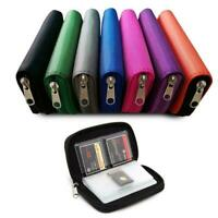 Memory Card Storage Carrying Case Holder-Wallet For HC SD Micro MMC CF K1S6