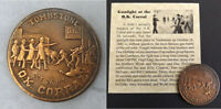 O.K. Corral Gunfight Token, Saturday Nite in Tombstone, copper, coin, old west