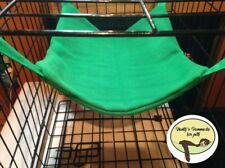 Cosy large hammock ferret,rat,chinchilla,degu. Small Pets . Green.