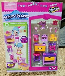 Shopkins Happy Places Busy Bear Workshop Decorator's Pack NEW