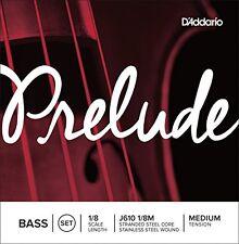 D'Addario Prelude Bass String Set, 1/8 Scale, Medium Tension