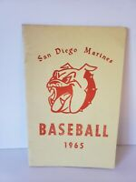 1965 San Diego Marines Baseball Media guide