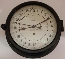 """Vintage 1957 CHELSEA  U.S. Government 10"""" Commercial Ship Engine Room Wall Clock"""
