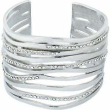 WAVES CUFF BANGLE IN GOLD AND SILVER COLOUR - LOT OF x20