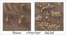 Whitehall Leaf Wall Decor - Set of 4 Cast Aluminum Panels - Antique Copper Color