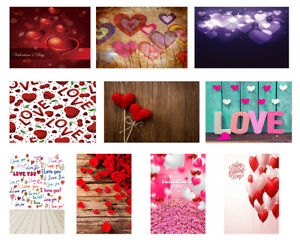 Valentine Theme Photo Studio Backdrop Board Background Love Photography Props