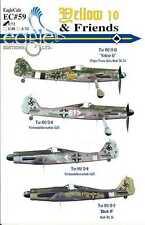 EagleCals Decals 1/72 FOCKE WULF Fw-190D Fighter Yellow 10 & Friends