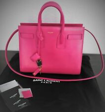 a6ddf4bf37 YSL Saint Laurent Sac De Jour Top Handle Shoulder Handbag Tote Dark Magenta