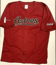5f3a77d2a Houston Astros SGA Button Down T-Shirt Red Jersey Coca-Cola