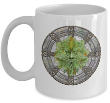 Esoteric coffee mug - Green man pagan - Occult wicca accessories wiccan gift cup