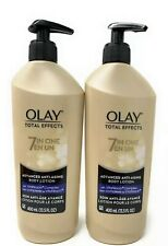 (2)Olay Advanced 7 In 1  Anti-Aging Total Effects 13.5 oz Body Lotion