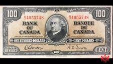1937 Bank Of Canada 100$ Gordon/Tower B/J4055748 - VF/EF -