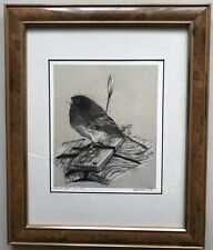 Finch Snowbird in Glasstop Frame by Rooftops-Juncd Tom Seagard Mill Road Gallery