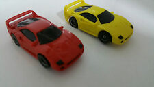 TYCO FERRARI F40 YELLOW AND RED PAIR COMPLETE HO SLOT CAR BRAND NEW.NICE!