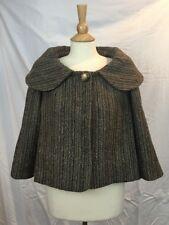 Tracy Reese New York Women's Brown Wool Blend Jacket Cropped Bolero Mod Size 6