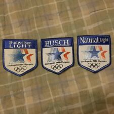 1984 OLYMPICS BUDWEISER NATURAL LIGHT BUSCH BUD VINTAGE EMBROIDERED PATCH (3-PCS