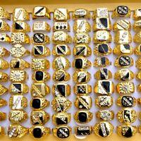 5Stk Großhandel Gold Top Metall Kristall Strass Ring Edelstahl Ringe Schmuck