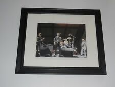 """Framed Talking Heads 1979 on Stage Fear of Music Tour color print 14"""" by 17"""""""