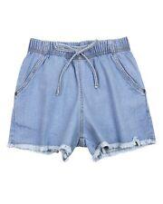 GLOSS Junior Girl's Denim Shorts with Frayed Hem, Sizes 10-18