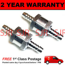 "2 X 8MM 5/16"" ONE WAY ALUMINIUM NON RETURN CHECK VALVE PETROL DIESEL OIL WATER"
