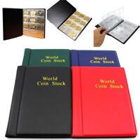 120 Coin Collection Holders Storage Money Penny Pocket Album Book Folder Mount