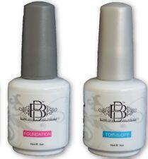 BBnails UV LED nail gel polish soak off set base foundation + gloss top coat